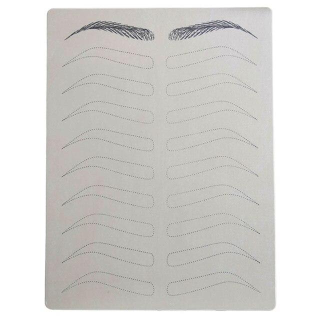 눈썹 연습 마이크로 블레이드 용 스킨 영구 화장 용 눈썹 문신 눈썹 훈련 양면 잉크 필요 없음