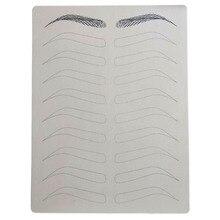 الحاجب الممارسة الجلد ل Microblading لوازم تجميل دائم الحاجب الوشم الحاجب التدريب كلا الجانبين لا الحبر اللازمة
