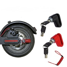 Disc Brakes Lock with Steel Wire for Xiaomi Mijia M365 Electric Scooter Skateboard Anti-Theft Wheels Lock Disc Brake Kickscooter kick scooter with disc brake for adults teens handbrake scooter push folding scooter 8 inch wheels perfect for urban city