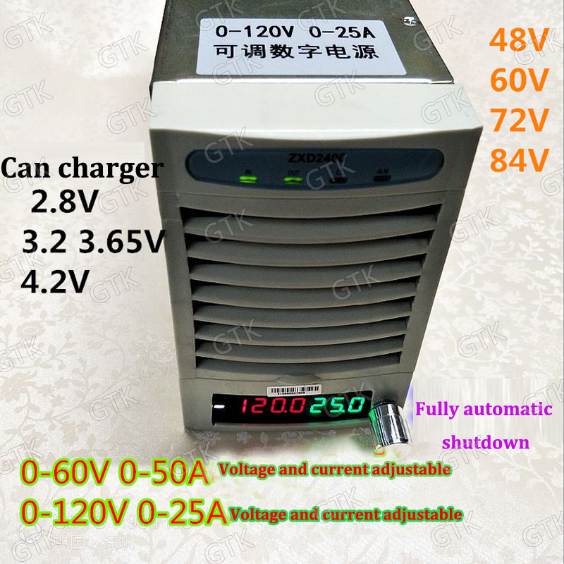 Tireless 0-60v 0-50a Charger Lto Li Ion Lifepo4 Adjustable Current Charger 12v 51.8v 60v 48v 36v 24v 42v 54.6v 58.4v 40a 30a 20a 50a 15a To Have Both The Quality Of Tenacity And Hardness Consumer Electronics Accessories & Parts