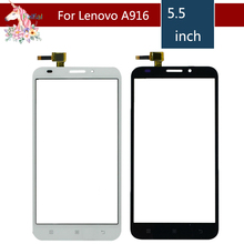 5.5 For Lenovo A916 / A 916 LCD Touch Screen Digitizer Sensor Outer Glass Lens Panel Replacement 4 5 for lenovo a516 a 516 lcd touch screen digitizer sensor outer glass lens panel replacement