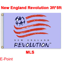 1 piece 144cm*96cm size MLS New England Revolution Flying flag