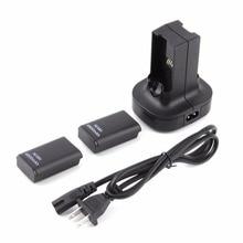 Для Xbox360 двойной Зарядное устройство базовая док-станция для зарядки 2 Перезаряжаемые Батарея 4800 мАч для Xbox 360 controle геймпад