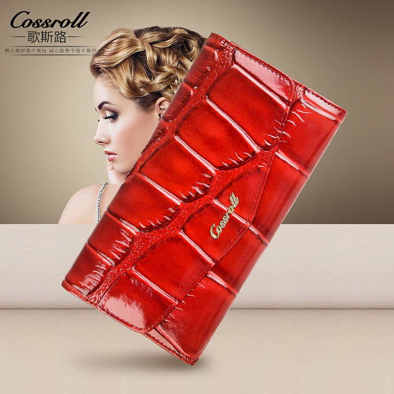 цены New Brand Genuine Leather Wallet Women Wallets and Purses Alligator England Style Long Designer Female Clutch Wallets Coin Purse