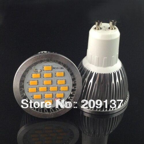 10XGU10 E27 15LED 5630SMD LED Light Bulbs Hight Power Led Lamp Day Warm White 650lm 7W