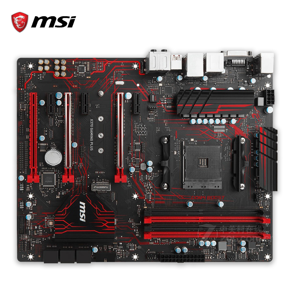 MSI X370 GAMING PLUS Original New Desktop Motherboard X370 Socket AM4 DDR4 64G USB3.1 ATX