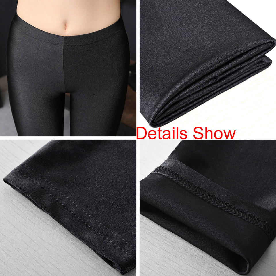 3548265099eca S XXL Size Women Shiny Black Legging Autumn Ladies Push Up Slim Leggings  High Waist Stretchy Soft Large Size Women Legging-in Leggings from Women's  Clothing ...