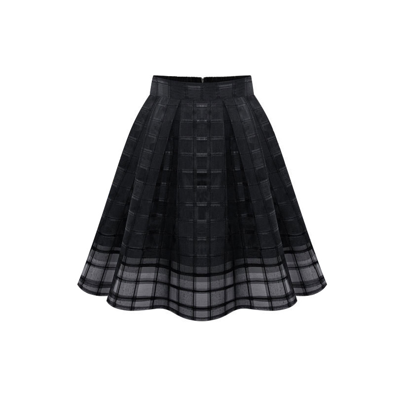 Popular Black and White Plaid Mini Skirt-Buy Cheap Black and White ...