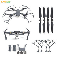 3 In 1 DJI Mavic Pro Heightened Landing Gear Propeller Protector Guard 8330F Props Foldable Propellers Mavic Accessories Kit