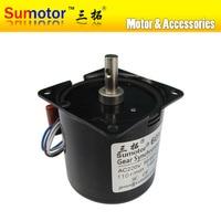 60KTYZ 110rpm 14W 220 240V 50HZ 60HZ AC synchronous motor CW/CCW, for Monitor PTZ automation Pure copper coils Long Lifespan