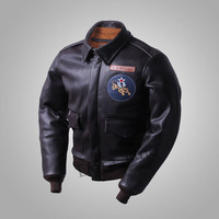 2018 USAF Army Air Force Flying Tigers Chenault Replica Faux Leather Mens Leatherette Coat Military Jacket For Men