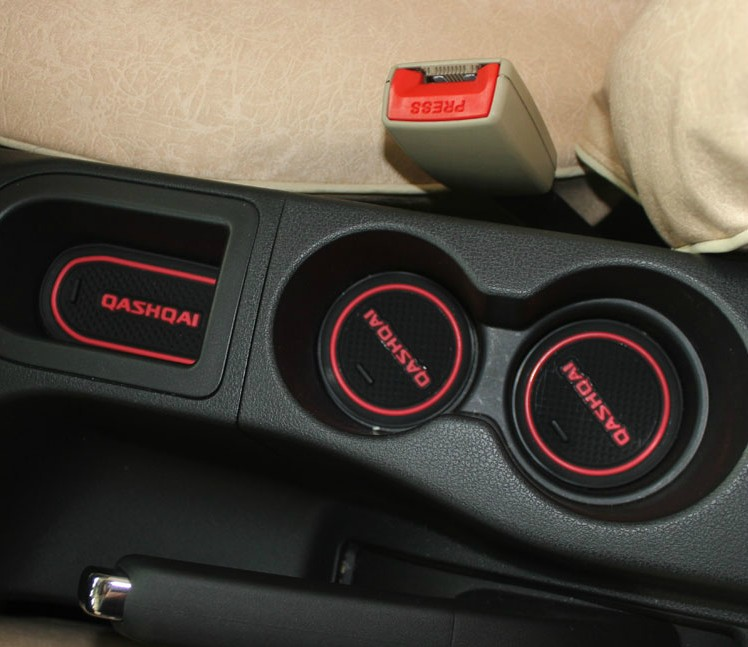 Non-slip Mat Auto Interior Door Gate Slot Pad Cup Mat For Nissan Qashqai J10 2007-2013,10pcs/lot,car Accessories