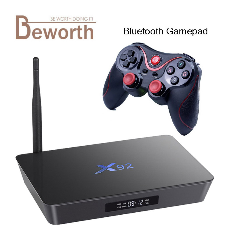X92 3GB RAM 32GB Amlogic S912 Octa Core Android 7.1.2 Smart TV Box 2.4/5.8G Wifi 4K 3D H.265 Set Top Box Media Player PK X96 M8S