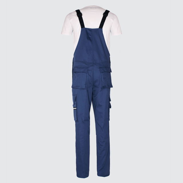 Men bib overall work coveralls fashion vintage locomotive repairman strap jumpsuit pants work uniform summer sleeveless overalls 3