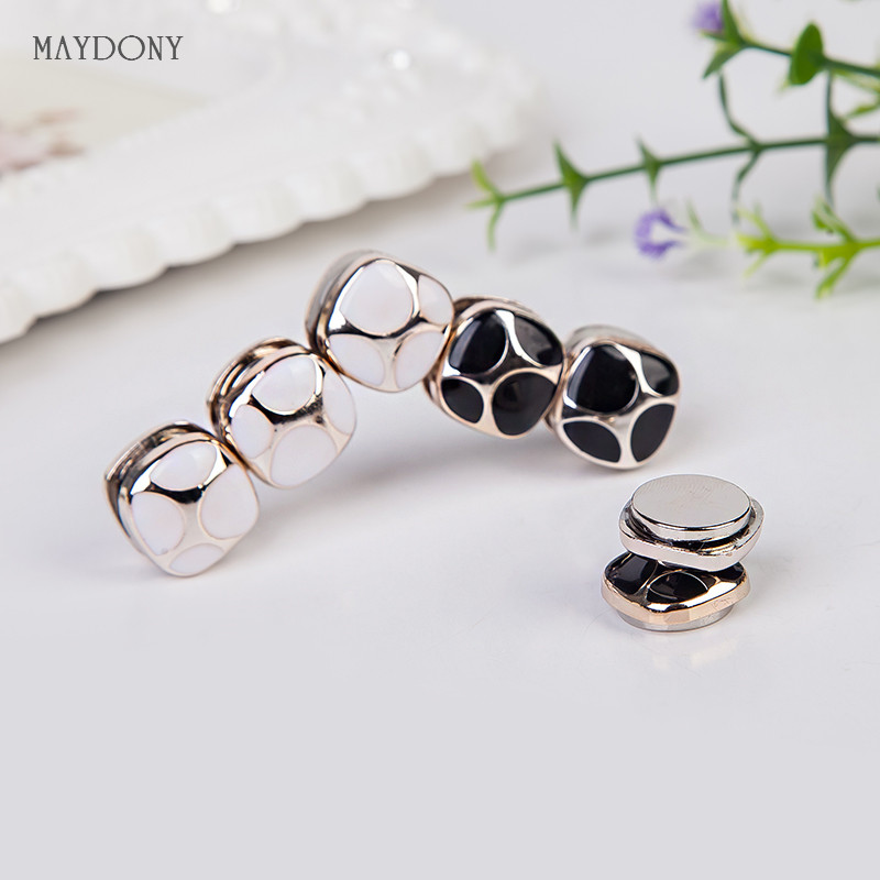XT105 wholesale fashion headwear scarf magnet brooch Bow tie hijab clips 12pcs/lot