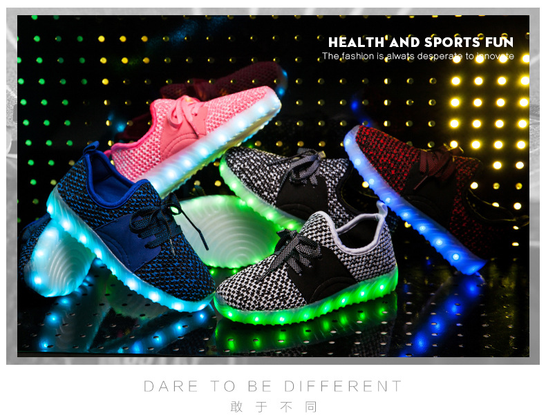 Led Sneakers YZY v2 Kids 7