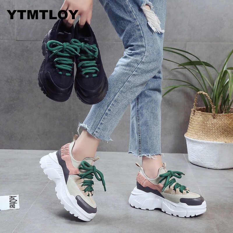 2019 Spring Autumn Women Casual Shoes Comfortable Platform Woman Sneakers Ladies Trainers Chaussure Femme  Tenis Feminino 8CM