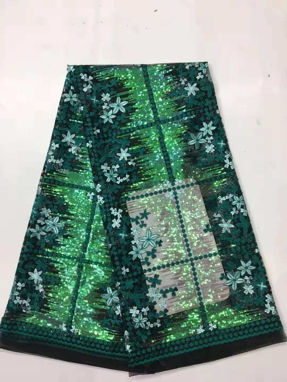 African French Lace For Nigerian African Net Sequins Laces Fashionable African Lace Fabric 2017 High Quality