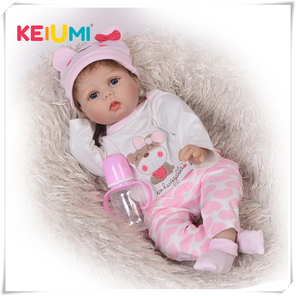 Classic Popular Realistic Rooted Mohair Newborn Doll 22 55cm Soft Silicone Vinyl Lifelike Reborn Baby Dolls For Girls XMAS Gift realistic about 18 handmade lifelike awake newborn baby doll reborn soft full silicone vinyl wavy hair rooted gift for boy