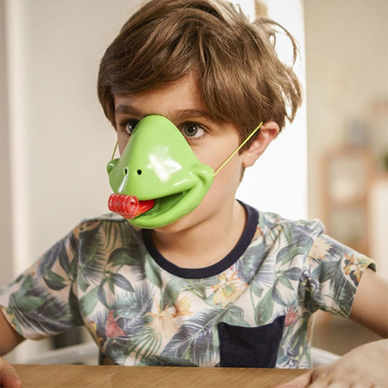 Be Quick to Lick! Novelty Toys Chameleon Sticky Tongue Board Game Mask Shoot The Tongue Out Board Game For ChildrenPuzzles & Games