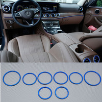 Blue Interior Air Vent Outlet Cover Trim 8pcs For Benz E Class W213 S213 2017 2018