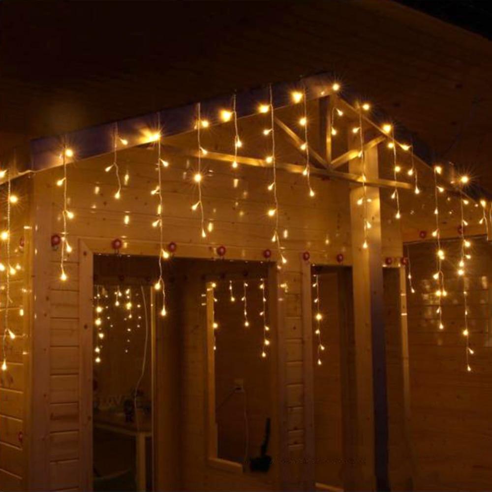 купить 10*0.5m LED Curtain Light Holiday Party String Lights For Outdoor Wedding Festival Christmas Garland Lighting Decoration JL по цене 1886.93 рублей