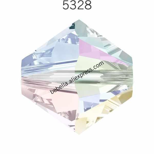 (48 pieces) מקורי קריסטלים סברובסקי 5328 XILION Bicones חרוזים loose חרוזים אבן הקמעונאי עבור תכשיטי ביצוע