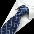 Hecho a mano 8 cm Trajes Lazos Para Los Hombres de La Boda Vestido de la Tela Escocesa Impreso Corbatas Gravatas Boda Borboleta de Vestidos Pañuelo Corbata