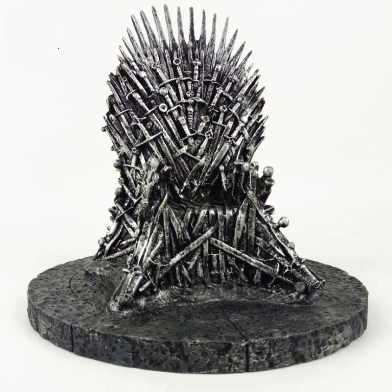 Game Of Thrones Figures The Iron Throne A Song Of Ice And Fire Sword Chair Resin model Action Figures Best Collection Model toys game of thrones action figure toys sword chair model toy song of ice and fire the iron throne desk christmas gift 17cm