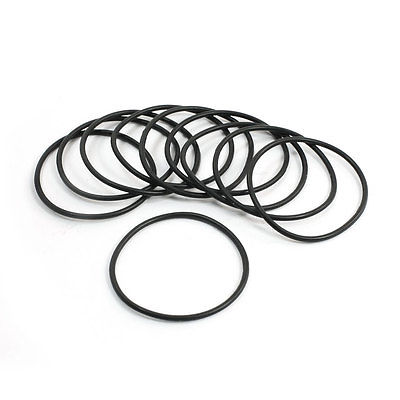 43mm Od 2mm Thickness Rubber Oil Seal Filter O Rings Washers Black