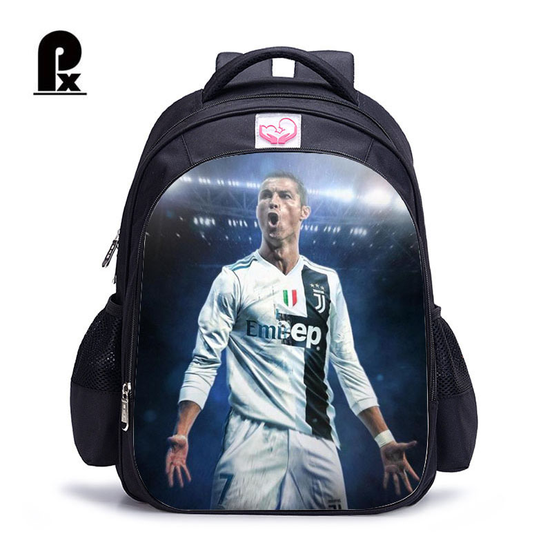 Children Ronaldo Juventus Backpack For Teenagers Children Orthopedic Schoolbag Backpacks Children Book Bag Mochila Infantil