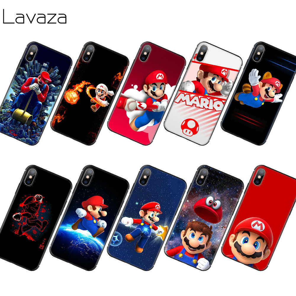 Мягкий чехол Lavaza Super Mario из ТПУ для iPhone 11 Pro XS Max XR X 8 7 6 6S Plus 5 5S SE