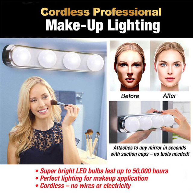 4 Light Bulbs Table Makeup 1