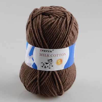 TPRPYN 1 шт. = 50 г пряжа для вязания крючком из молочного хлопка, мягкая теплая Детская Пряжа для ручного вязания - Цвет: 57 middle coffee