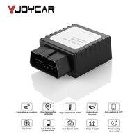 VJOYCAR MP90 4 г gps трекер автомобиля мини gps локатор OBD II 12 24 в разъем автомобиля в режиме реального времени отслеживание голосового монитора опове