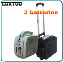 3 Batteries Oxygen bar portable oxygen concentrator with battery/car adaptor/handheld.carry bag