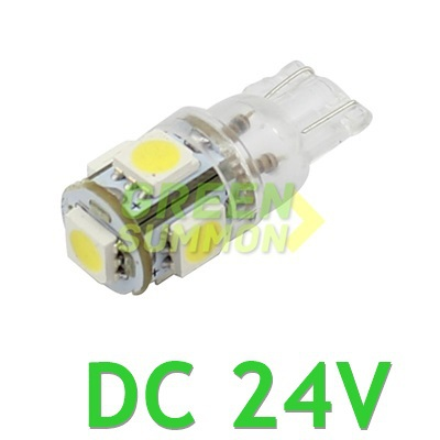 10x T10 DC 24V 5-SMD 5050 LED MAKER DEMO 194 168 w5w Interior Wedge White Lights 6000KBulbs For Truck itimo 10x t10 194 168 w5w 360 degree