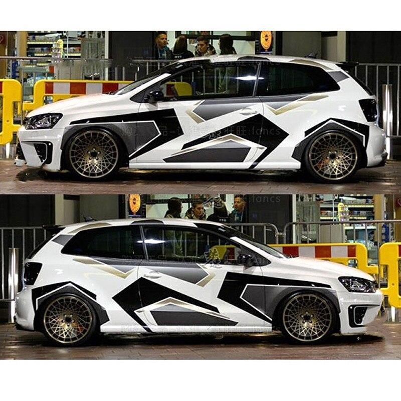 Камуфляжные креативные наклейки и наклейки для всего тела, украшения для автомобилей, автомобильные аксессуары для Volkswagen Polo