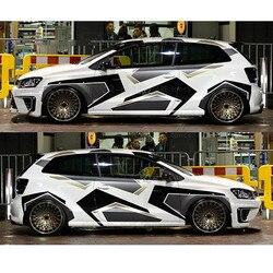 Camuflaje creativo coche pegatinas para toda la carrocería y calcomanías DIY decoración automóviles productos accesorios de coche para Volkswagen Polo