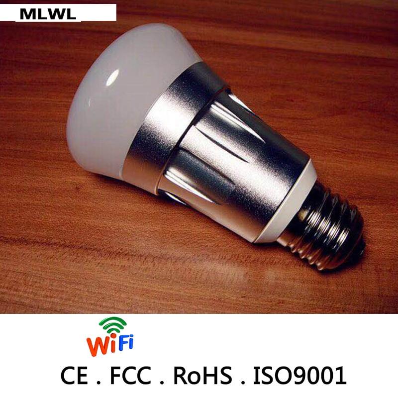 Купить с кэшбэком MLWXNew Product Saving Energy-Lamp RGB+CCT Color Controller Smart Led Bulb Light Wifi Work with Alexa Google Assistant