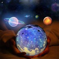 Luz LED de noche cielo estrellado estrella mágica Luna proyector de planeta lámpara Cosmos universo Luminaria decoración de bebé luz para regalo de cumpleaños