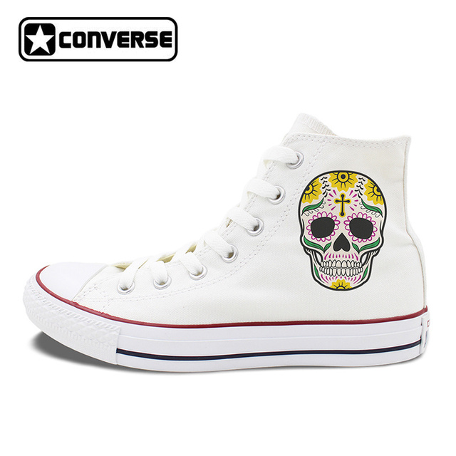 Womens Skateboarding Shoes Canvas Colorful Flowers Sport Sneaker