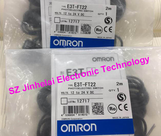 100% New and original E3T-FT22 OMRON Photoelectric switch Photoelectric sensor 12-24VDC 2M dhl ems 2 lots new omron e3t fd14 diffuse reflective photoelectric switch sensor 12 24vdc 2m