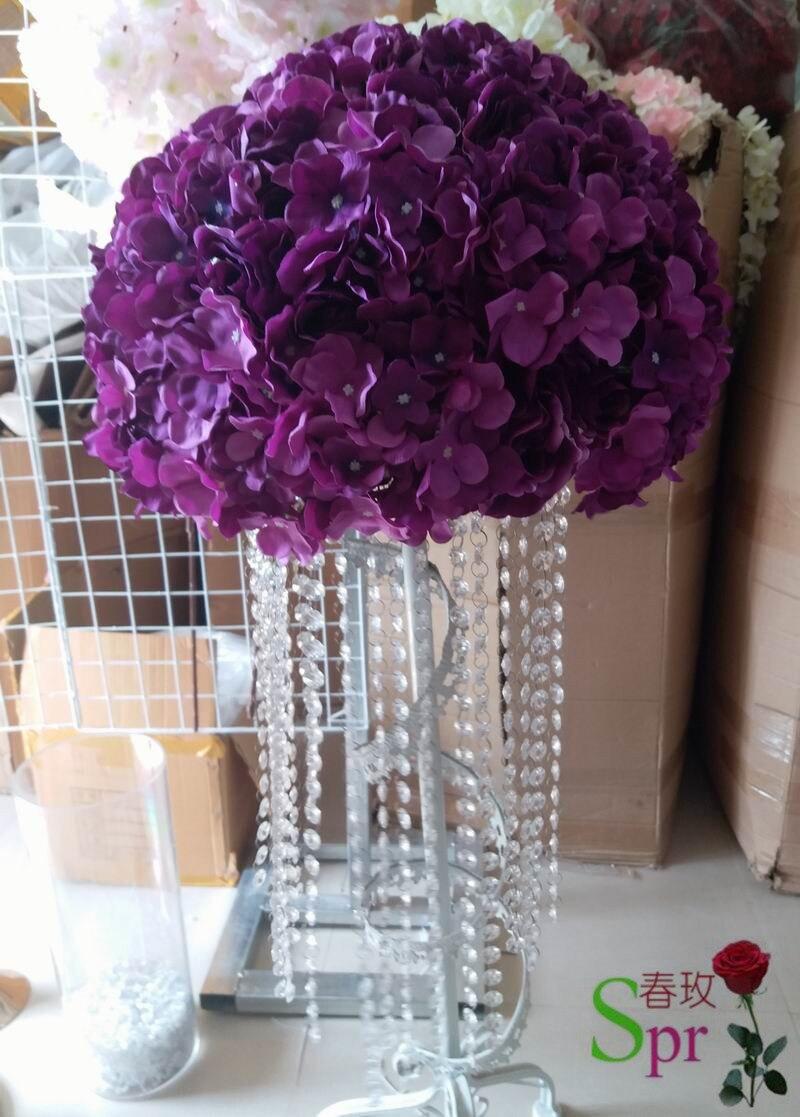 2017 nouveau 40 cm dia. table de mariage pièce maîtresse fleur boule décorative fleurs route plomb artificiel flore décoration