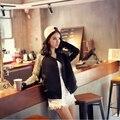 Женская Мода Блесток бейсбол равномерное дамы Harajuku стиль однобортный пиджак женский сращивания блестки куртки бомбардировщика LX6036