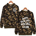 fashion anti social social club Hoodies Camouflage sweatshirt pull off streetwear superem yeezy thrasher casual sweat