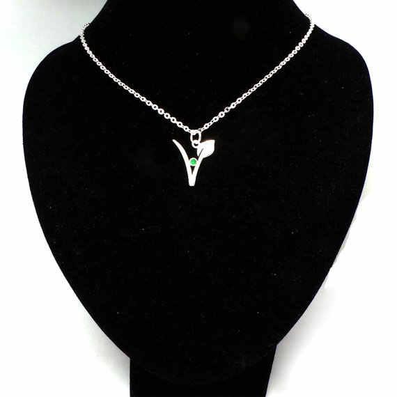 Веганское ожерелье вегетарианское символ ожерелье кулон подарок для вегетарианцев украшения для вегетарианцев YLQ0532