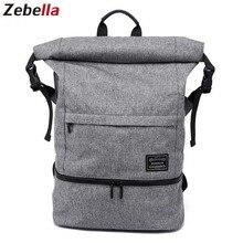 Купить с кэшбэком 2019 Large Capacity Black Men Backpacks 17Inch Laptop Travel Bags For Men Water Resistent Students Bag Daypacks For Teenagers