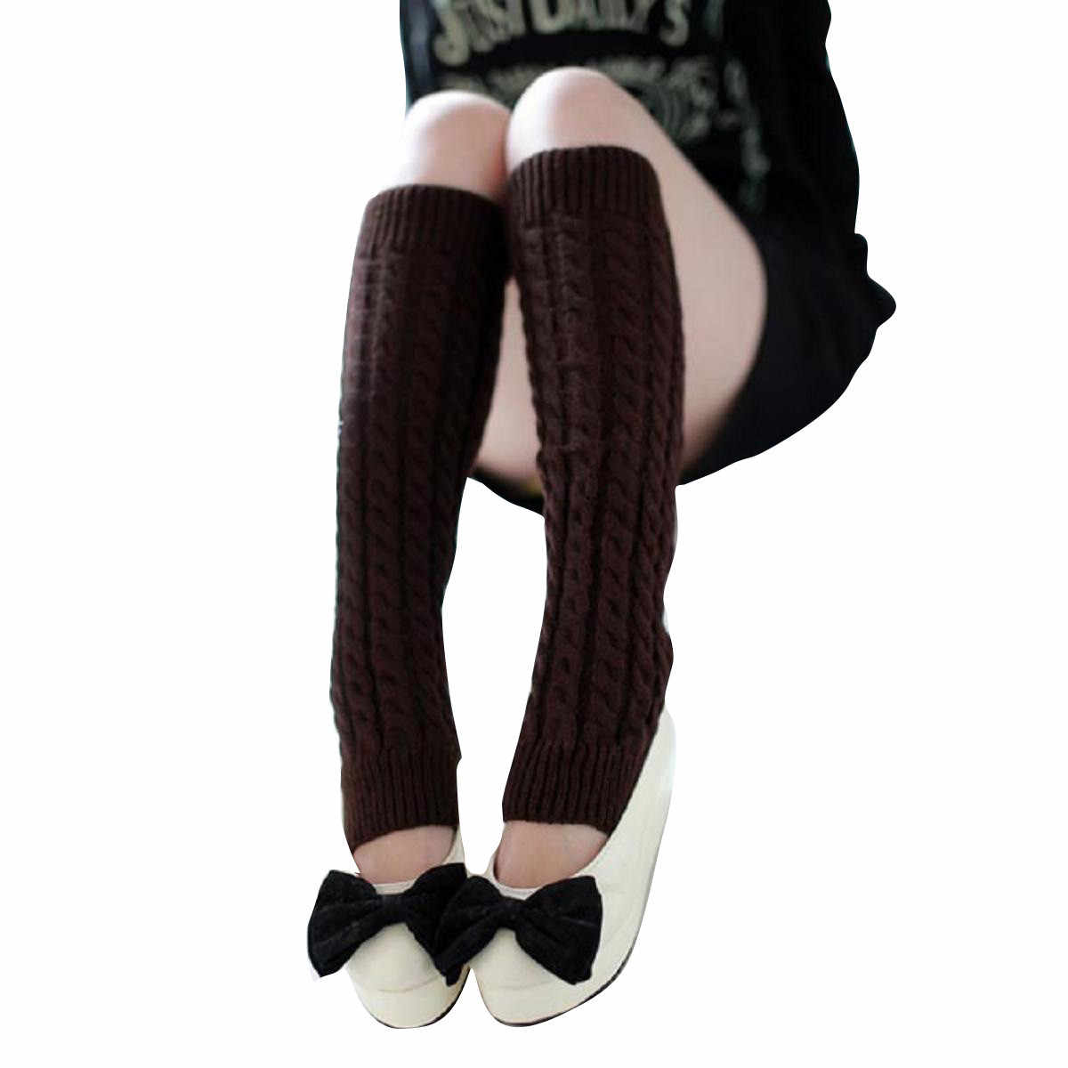 Inanılmaz Moda Kadınlar Kış sıcak Bacak Isıtıcıları Örme Çorap Tığ Uzun Çizme Çorap 2019 Yeni Sonbahar Modis * 20