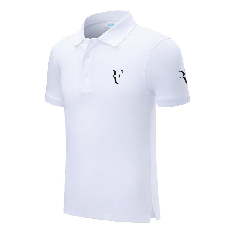 Design Brand RF roger federer Logo Custom Men and women   Polo   Shirts Plus Size   Polo   Shirt Men Clothing